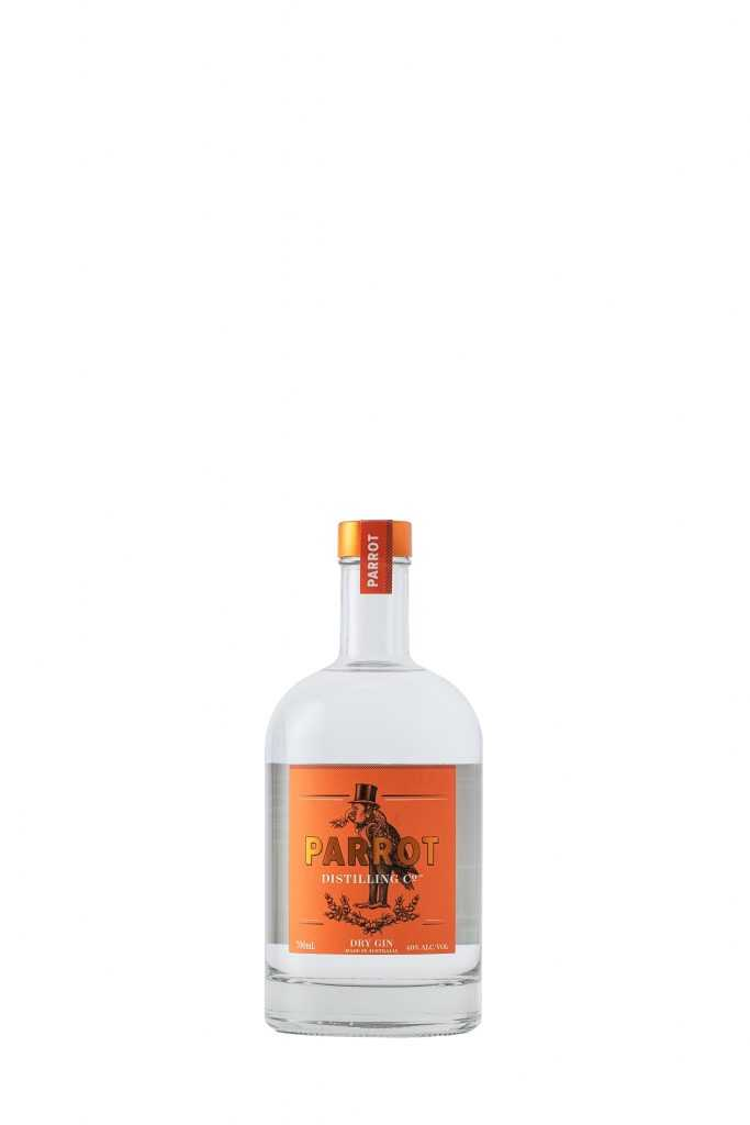 High key commercial product photo of bottle for Orange NSW company Parrot Distilling by Central West Photographer Brent Young
