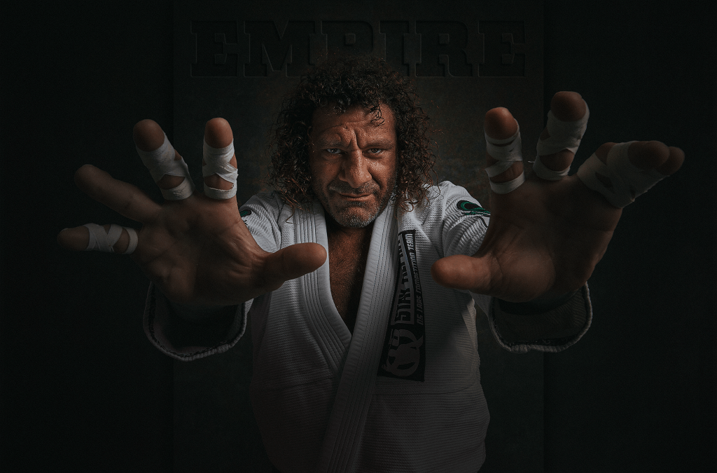 Dark portrait of Kurt Osiander by Australian Photographer Brent Young taken at Black Knight Jiu-Jitsu Cowra NSW