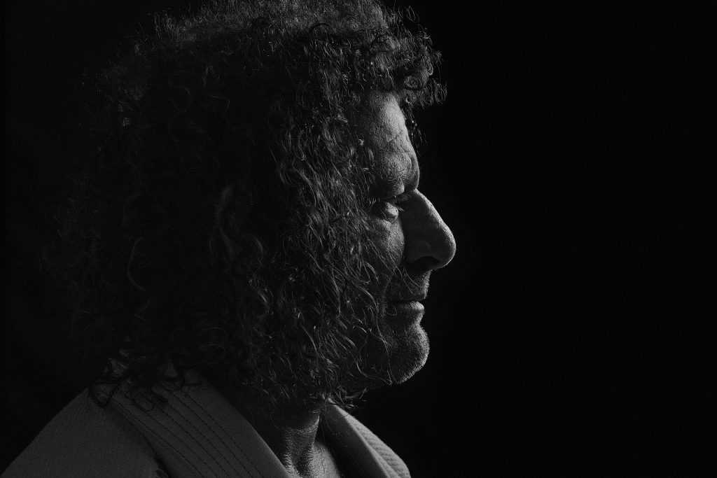dramatic black and white one light portrait of male athlete kurt osiander from LA by Brent Young Photography