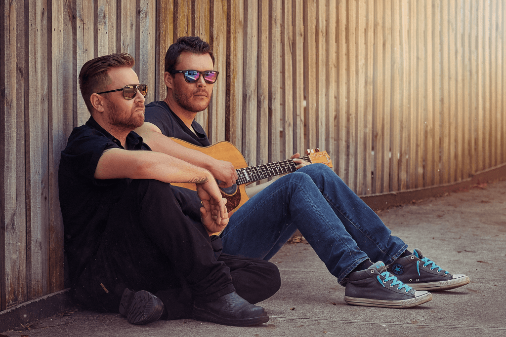 portrait of two male musicians at Leichhardt in Sydney by central west photographer brent young